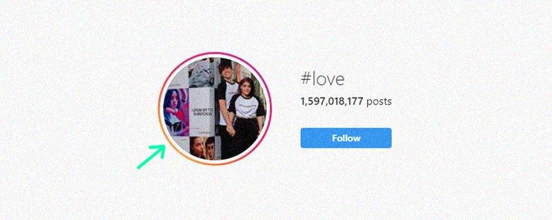 Hashtags on Instagram #love