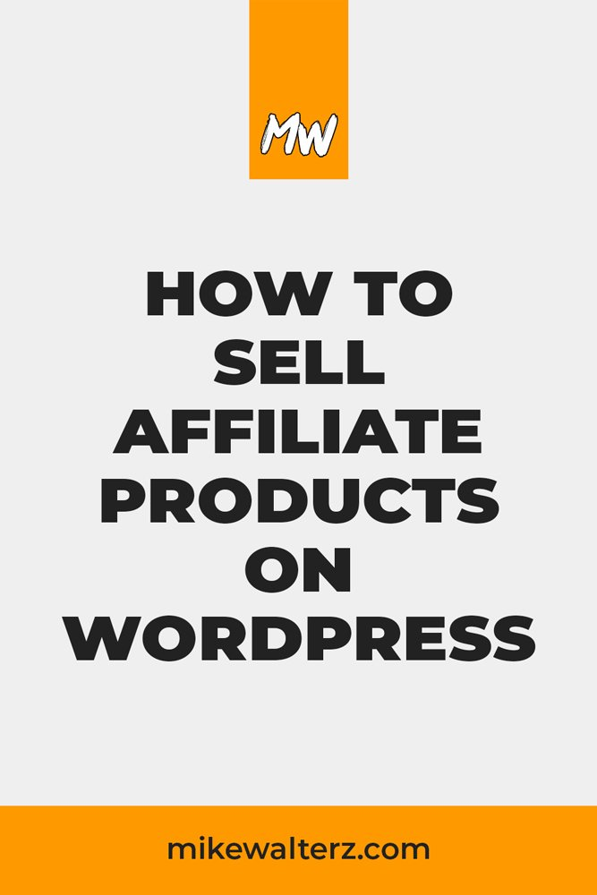 Found a product that you'd like to promote & make money from? In this post you'll learn how to earn passive income, adding affiliate products on WordPress. - Mike Walters - #affiliate #income #money #wordpress #website #passiveincome #onlinemarketing #woocommerce #blog #blogging #blogger