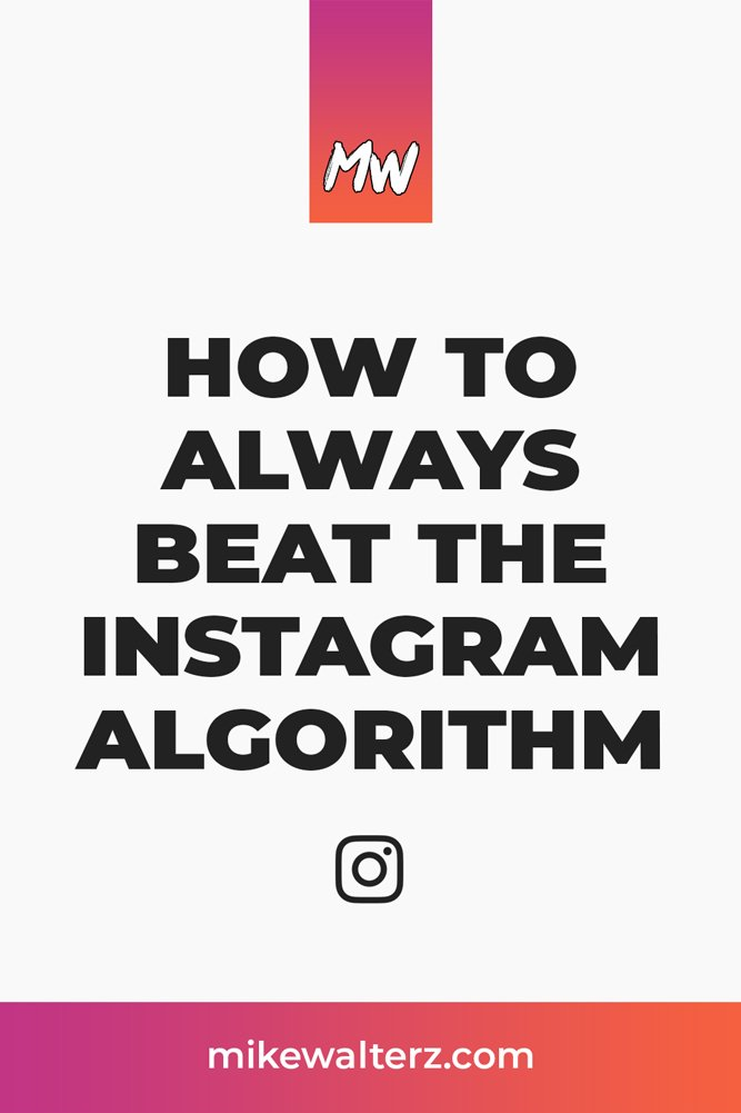 Struggling to grow your Instagram account and wondering how you can get more likes, comments & followers? Check out this post on how to consistently beat the Instagram algorithm every time! - Mike Walters #instagram #marketing #likes #comments #followers #algorithm #instagrammarketing #smma #content #images #posts #videos #quality