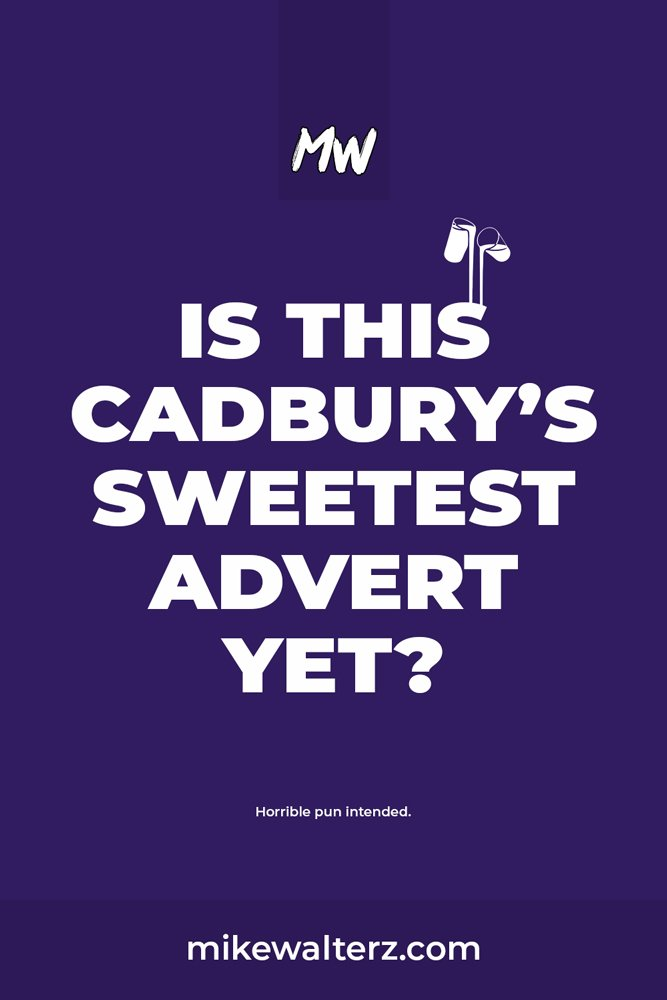 "Is this Cadbury's advert the sweetest one yet? The UK is currently facing a crisis in which over 1.4 million people aged 65 and over suffer with loneliness. Cadbury have released a ""wordless"", limited edition Dairy Milk bar and plan to donate a portion to Age UK #bekind #marketing #cadbury #chocolate #purple #branding #ad #advert #uk"