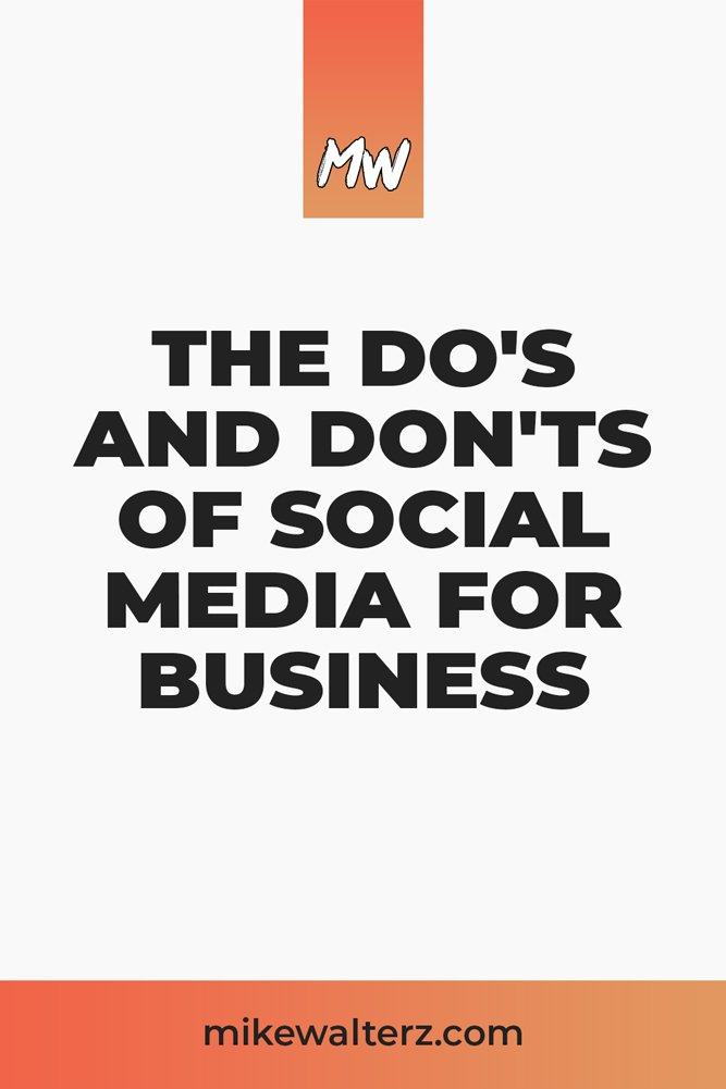 Are you guilty of committing one of the deadly sins of Facebook, Instagram or YouTube? Learn about how you should be using social media for your business. - Mike Walters - How To Use Social Media For Business - #business #social #media #socialmedia #smma #marketing