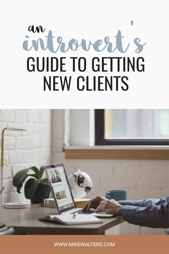 I've always suffered with anxiety and it's made it increasingly difficult to grow my own business; as networking tends to play a huge part in finding & acquiring new clients. That left me in a difficult position where I had to start thinking outside the box and try out a variety of different methods of client acquisition, and now I can give you some actionable advice for getting new clients as an introvert - Mike Walters - #business #entrepreneur #money #introvert #sales #social #media #marketing #clients