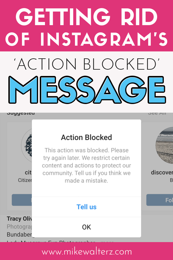 Are you being left frustrated by a persistent warning message from Instagram telling you that your action has been blocked? Well, not to worry as I'll be showing you the reason why you're getting the message, how to resolve this issue and also how to avoid getting it again in the future.