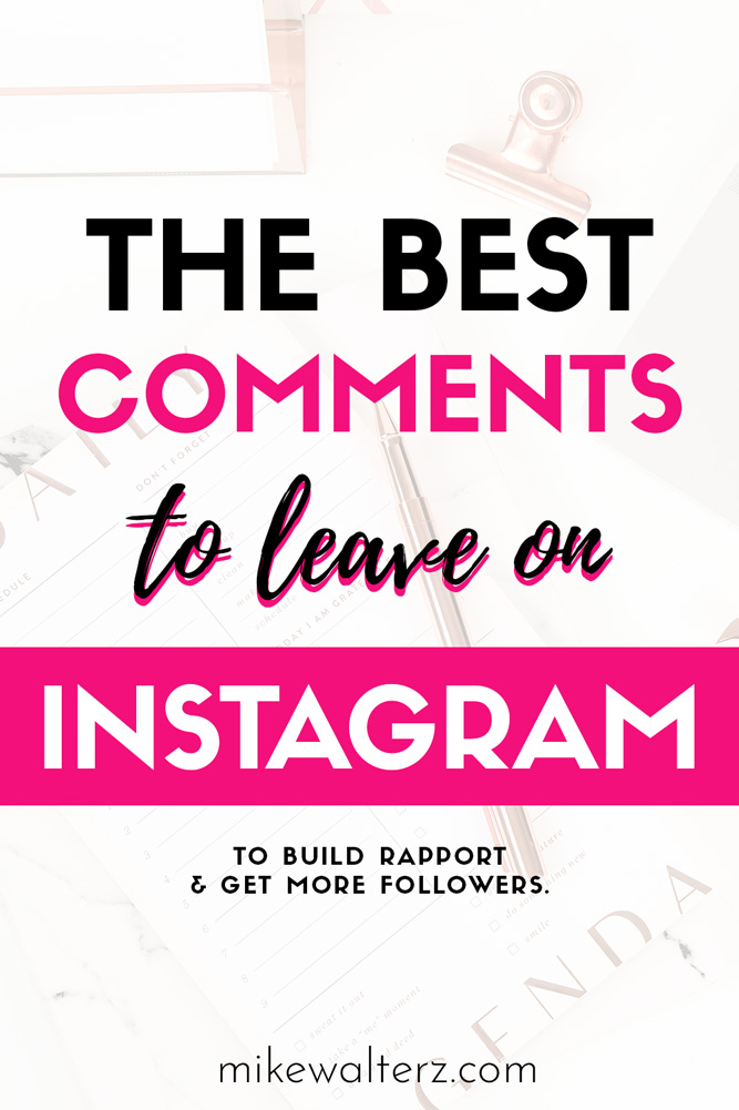 Have you been wasting hours engaging on Instagram and still struggling to get more followers? Well luckily for you, I'm going to teach you how to write the best comments to get you more followers on Instagram, as well the mindset you need to have when leaving such comments.