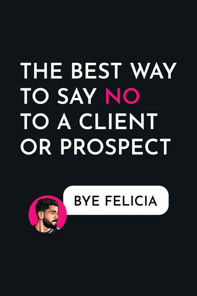 Wondering how to say no to a client or prospect without being rude? Not to worry, as I've been on both sides of the coin and share two great examples of a rejection message that I've sent to a client and a rejection I've received as a prospective client. client relationships // customer journey // client stuff // dream client // ideal clients #idealclients #dreamclient #clientstuff